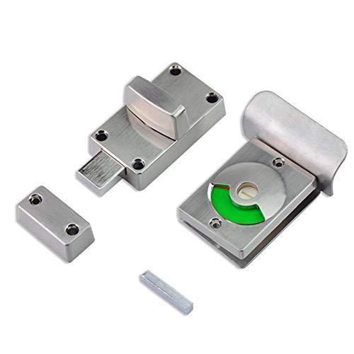 Daoyuan Türschloss Badezimmer WC Türschloss Mit Indikator Praktisch,Für Privatsphäre Badezimmer WC Öffentliche Toiletten WC,Silber