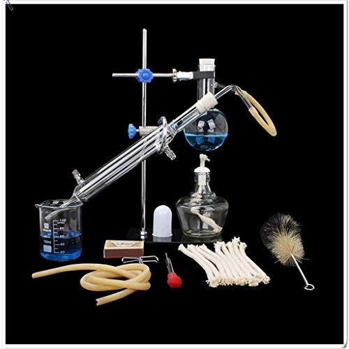 Lchzl Laborausrüstung Destillationseinheit Set Labor Glaswaren Industrie Wissenschaft Destilliergerät Pure Taureinigung Herstellung ätherischer Öle Destilliertes Wasser Filter Chemisch