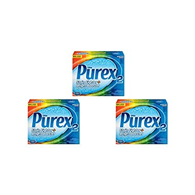Ultra Purex 2 Advanced Stain Fighter + Bright Booster Safe on Colors Whitens Whites Bleach 3-Box of 29 oz.