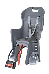 Polisport Unisex - Children's bicycle seat, gray, one size