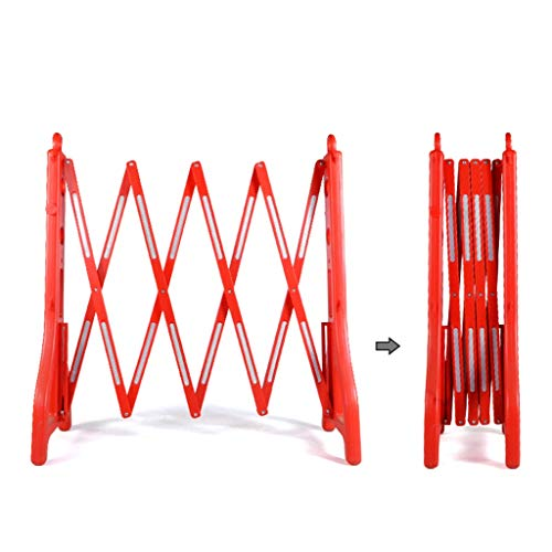 BBGS Expanding Fencing, Movable Plastic Folding Guardrail, Insulation Construction Stretch Protective Fence, Filled Water/sand, 250x96cm (Color : Red)