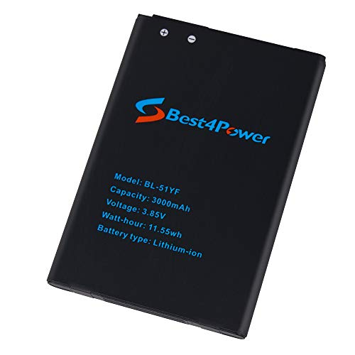 Best4Power LG G Vista 2 H740 G Stylo 3000mAh Li-ion Replacement Battery BL-51YF for AT&T LG G Vista 2 H740 G Stylo LS770 H631 MS631 H634 Phone
