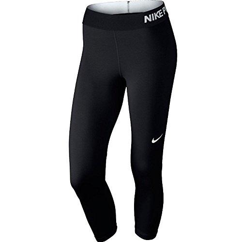 Nike Damen Trainingscaprihose PRO COOL CAPRI, Schwarz (Black/Black/White), L