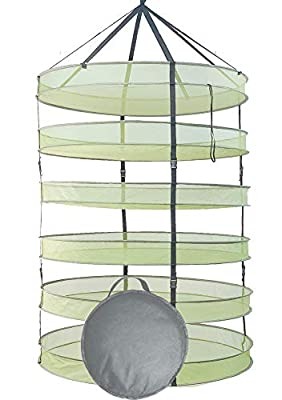 HORTIPOTS Herb Drying Rack 3 ft Hanging Dry Net 36 Inch for Curing Hydroponic Herb Vegetable Fruit Flower Buds