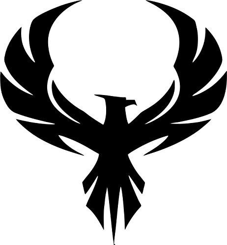 Evan Decals Die Cut Vinyl Window Decal Vinyl Sticker Phoenix Bird Style 6'