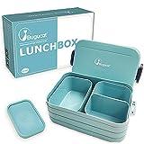 Bugucat Lunchbox,Bento Box Brotzeitbox Auslaufsicher Luftdichte Brotdose mit Fächern und Besteck,Vesperdose Frühstücksbox Geeignet für Mikrowellen und Spülmaschinen, Brotbüchse für Kinder Erwachsene