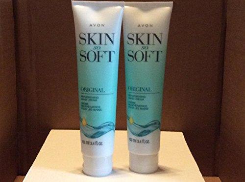 Avon Skin So Soft Original +jojoba Replenishing Hand Cream (Lot of 2)