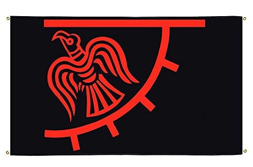 Flaggenfritze® Balkonflagge Wikinger Odinicraven - 90 x 150 cm