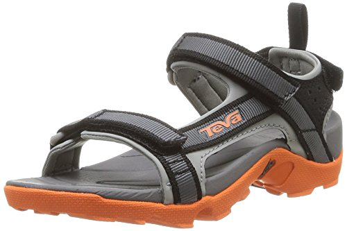 Teva Jungen Tanza Sandalen, Grau (Grey/Orange), 28 EU