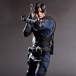 Resident Evil 2 Leon Scott Kennedy Servicio entrante Modelo Carácter Policía Juego Modelo Periférico Estatuario Decoración 32CM