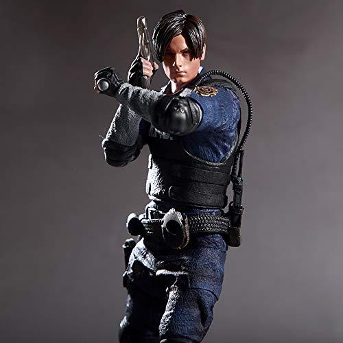 DTZW Resident Evil 2 Leon Scott Kennedy Incoming Service De Police Modèle Caractère Modèle Jeu Périphérique Statuaire Décoration 32CM