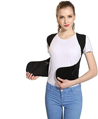 MVNZXL Verstellbarer Korrekturer für die Rückenhaltung, Rückenstütze für die Lendenwirbelsäule der Wirbelsäule, intelligenter Haltungskorrektor für Erwachsene und Kinder(Size:Medium)