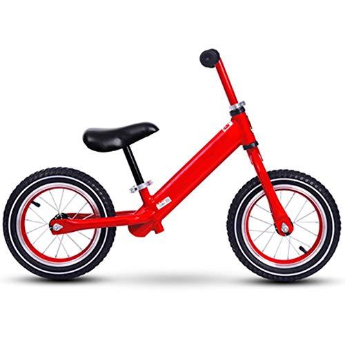 YumEIGE Loopfiets voor kinderen, aluminiumlegering, aanbevolen hoogte 31,4-51,1 inch, wielen kinderfiets spaakfiets (wedstrijd) rood