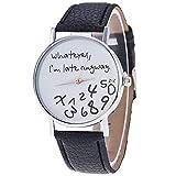 ZooooM 腕 時計 LOOSE FACE ユニーク デザイン 文字盤 アナログ ウォッチ ファッション アクセサリー おもしろ カジュアル メンズ レディース 男性 女性 男 女 兼 用