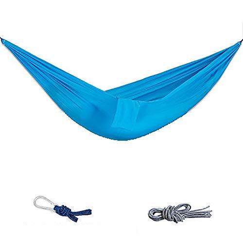 SHARESUN Outdoor camping hangmat, enkele ademende parachute doek ultra licht draagbare hangmat schommel, vrije tijd opknoping lounge stoel, belasting 300kg, voor wandelen tuin binnenplaats strand