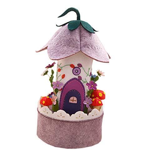 Baoblaze Filz Craft Kit Spieldose für DIY selbst Gewebe Musik Box Machen - Gartenhaus
