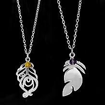 N/B Nuevo Juego League Legends Xayah y Rakan Couples Necklace LOL Jewelry Charms Colgante Gargantilla Collares Collier 2Pcs