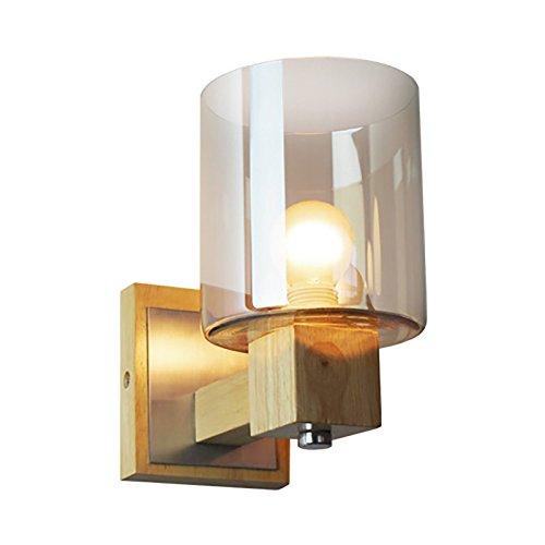 Wandlamp Modern design glas indoor LED wandlamp nordic hout nacht wandlamp leeslamp wooncultuur ruimteverlichting