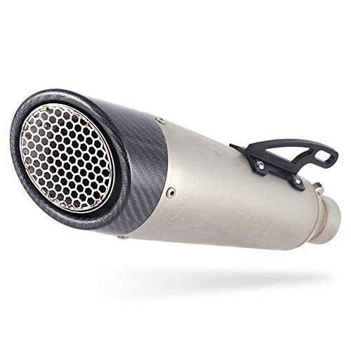 NHJUIJ Universal 51Mm/61Mm Slip on Exhaust Muffler with Removable DB Killer Motorcycle Exhaust Muffler Fit for Scooter Motorcycle ATV Dirt Bike,61mm