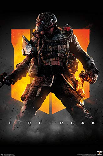 Trends International Call of Duty: Black Ops 4 - Firebreak Key Art Wall Poster, 22.375' x 34', Premium Unframed