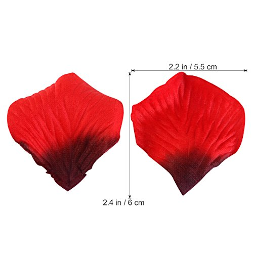 Rose Petals, ETEREAUTY 3000Pcs Red Silk Petals for Wedding, Romantic Night Party Decoration and Valentine's Day Dark Red