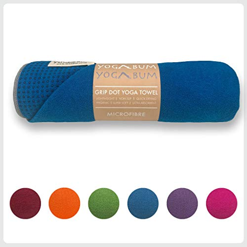 Yogabum Antideslizante Yoga Mat Prima Toalla (Royal Blue)
