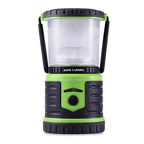 Brightest LED Rechargeable Lantern | Hurricane, Camping, Storm | Power Bank Light | 400 Hour Runtime (400 Lumen, Green)