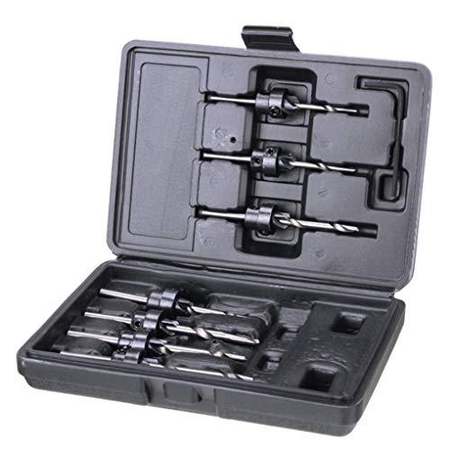 Yongse 7pcs HSS 3.18mm-5.56mm Verzinken Boor Houtbewerking Tool