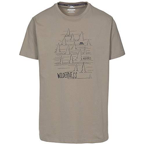 Trespass Forest T-shirt à manches courtes Homme, Beige (Oat), L