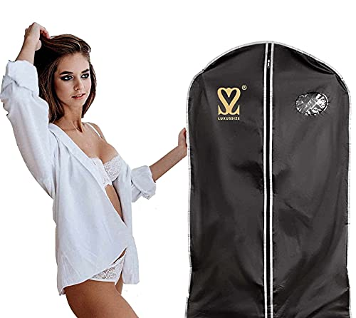 Luxussize Kleiderhülle, Kleidersack Blusen- Hemden- Anzughülle 100 x 57,5 cm - Staub-/Wasserdicht mit Reißverschluss