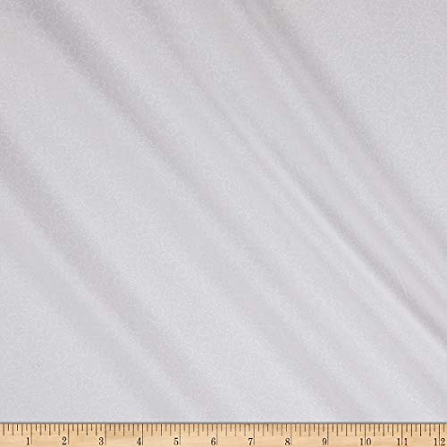 Wilmington Essentials White-Lite Dotted Scroll White on White Quilt Fabric