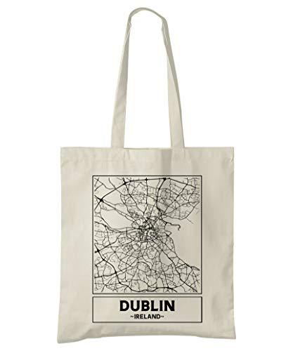 Super Cool Totes Dublin, Republik Irland, Stadtplan Einkaufstasche (Design 1)