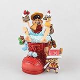 QHYZRV Figura de Anime Botas navideñas de una Pieza Luffy Chopper Edición navideña Luffy en Caja...