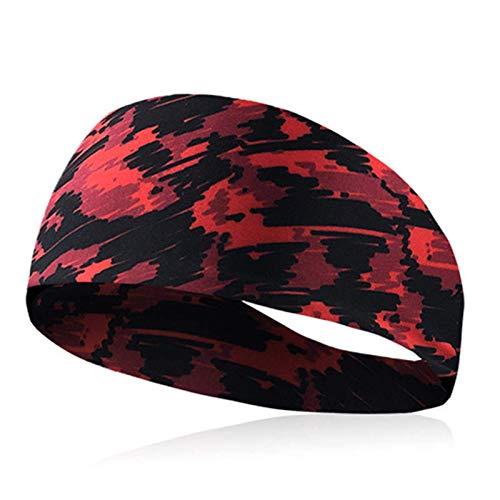 Lshbwsoif Diadema deportiva para hombre y mujer, para correr, yoga, gimnasio, caminar, ciclismo, talla única, color: rojo