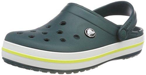 Crocs Unisex-Erwachsene Crocband Clog, Grün (Evergreen/Tennis Ball Green), 39/40 EU