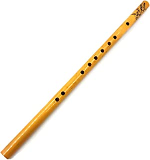 DSstyles 44CM Chinese Traditional 6 Hole Bamboo Flute Vertical Flute Musical Instrument
