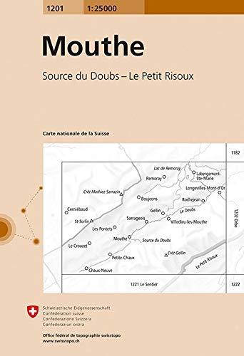 1201 Mouthe: Source du Doubs - Le Petit Risoux (Landeskarte 1:25 000)