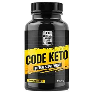 Keto Diet Pills – Best Ketosis Supplement for Women and Men – Code Keto – 60 Capsules