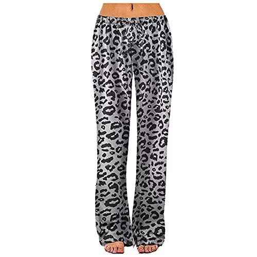 Pantalon Chandal Mujer Jogger EláSticos Pantalones para Deportivo Yoga Fitness Pantalones Anchos de Pierna Ancha de Yoga Casuales Sueltos Pantalones de Pijama Caseros