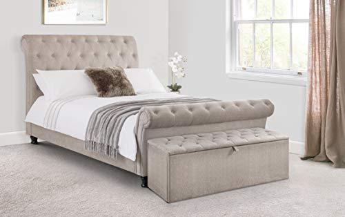 Julian Bowen Ravello Bed & Elite Mattress, Grey, Double