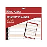 2020 - Calendario de pared con vista mensual