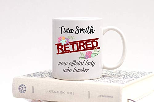 N\A Feliz jubilación, señorita, Maestra, jubilación, jubilación, Taza, Regalo para jubilación, Regalo para compañero de Trabajo, jubilación, Presente, Damas Que almuerzan