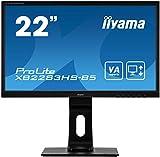 iiyama ProLite XB2283HS-B5 54,7cm (21,5') VA LED-Monitor Full-HD (VGA, HDMI, DisplayPort) Höhenverstellung, Pivot, schwarz