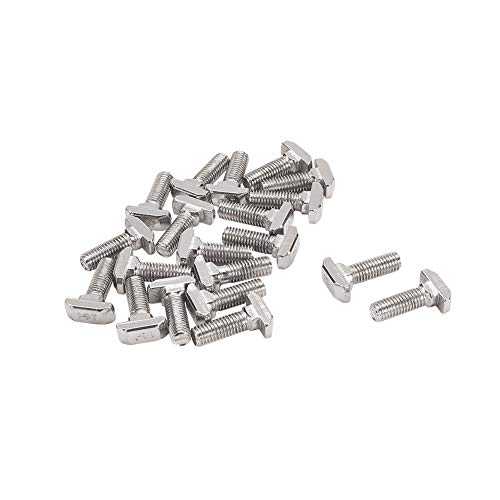 MroMax 20PCS Hex Metal Nut M3 Stainless Steel Female Thread Hex Head Lock Nut Metric Hex Nut Rust Resistance for Both Indoor and Outdoor Silver Tone