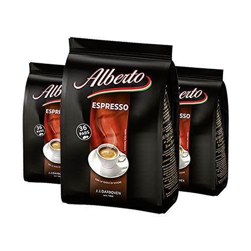 Alberto Kaffeepads Espresso 36er, 252 g / 3er Pack
