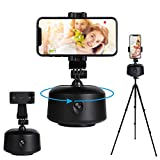 Smart Portable Tracking Selfie Stick 360°Rotation Auto Face Object Tracking Camera Tripod Holder NO APP Required Smart Shooting Cell Phone Camera Mount Vlog Shooting Smartphone Mount Holder (Black)