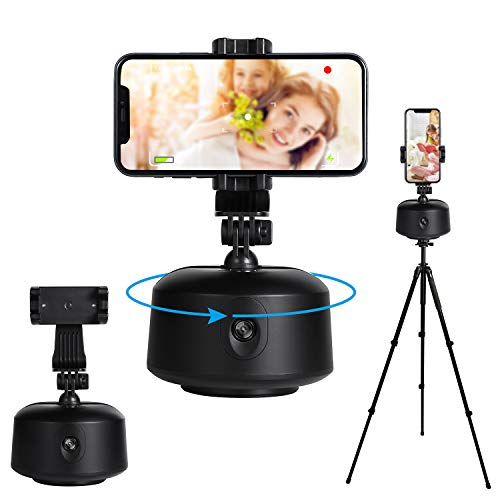 beyonday Smart Portable Tracking Selfie Stick, 360°Rotation Auto Face Object Tracking Camera Tripod Holder, NO APP Required, Smart Shooting Cell Phone Camera Vlog Shooting Mount Holder (Black)