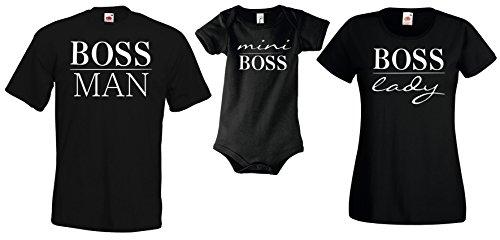 Youth Designz Baby Strampler Modell Mini BOSS, Gr. 3-6 Monate, Schwarz