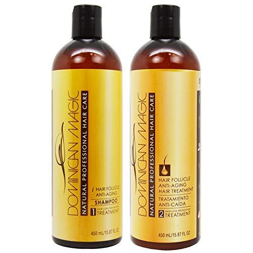 "Dominican Magic Hair Follicle Anti-Aging Shampoo & Treatment 15.87oz Duo ""Set"""