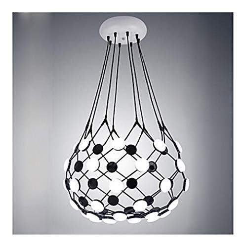 YSJ LTD Persoonlijkheid zwart-wit net-zakken Go kroonluchter, LED woonkamer lamp designer postmoderne creatieve kunst restaurant Villa kroonluchter speciaal design sfeerlicht voor 9000lm 220-240V